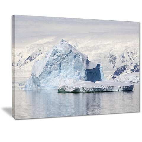 antarctica mountains landscape photo canvas art print PT7200