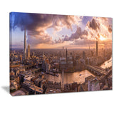sunset through clouds in london photo canvas print PT7202