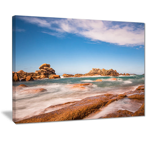 atlantic ocean cost in brittany photo canvas print PT7205