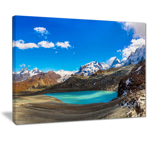 alps mountain fountain photography canvas art print PT7207