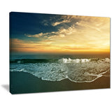 beach panorama landscape canvas art print PT7212