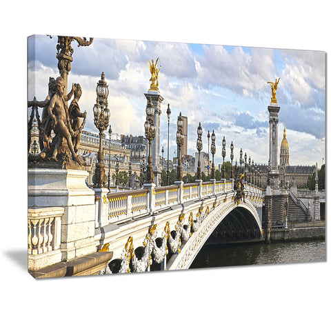 alexandre iii bridge panoramic view photo canvas art print PT7220