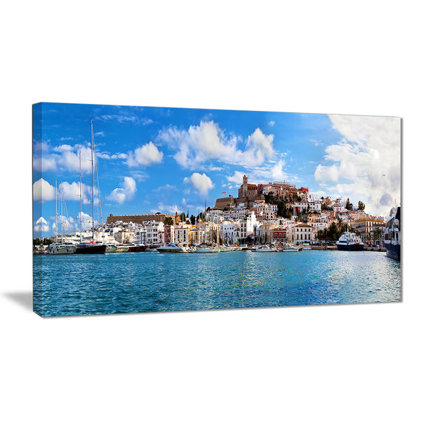 panorama of ibiza spain cityscape photo canvas art print PT7225