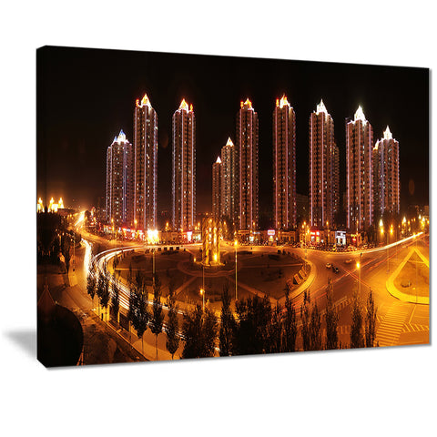 chinese cities cityscape photography canvas art print PT7227