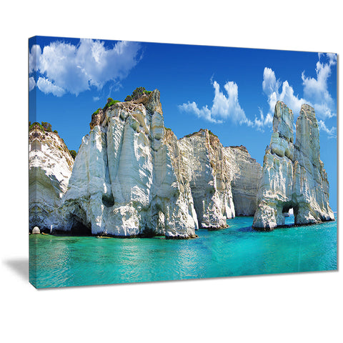 greek holidays cityscape photo canvas art print PT7228