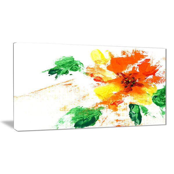 painted abstract flower floral art canvas print PT7235