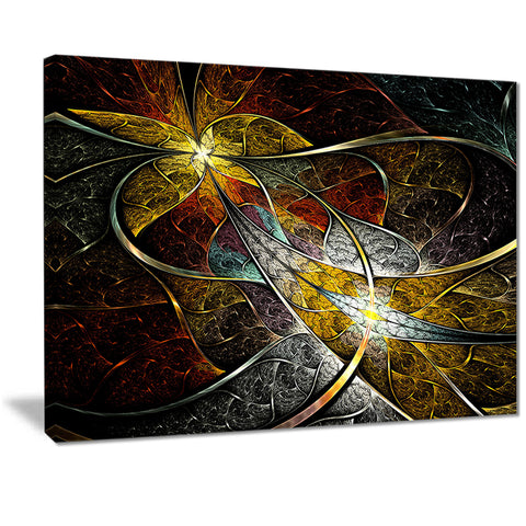 symmetrical fractal flower floral digital art canvas print PT7244