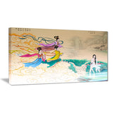 classical chinese painting abstract canvas art print PT7245