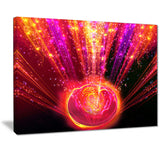 shining radical blast with magic ball digital art canvas print PT7249