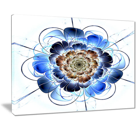 dark blue fractal flower digital art floral canvas print PT7253