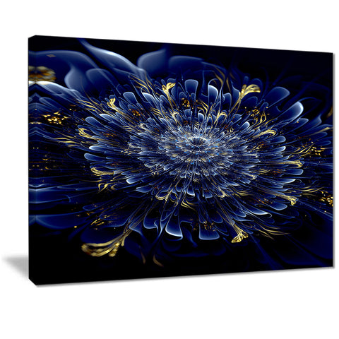 blue fractal flower digital art floral canvas print PT7257
