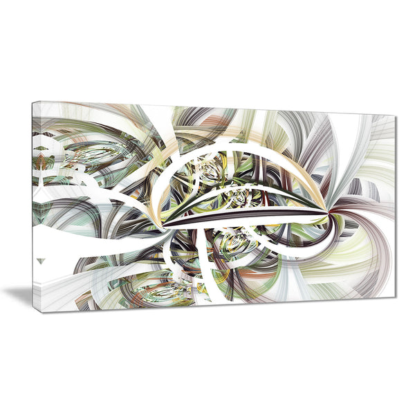 symmetrical spiral fractal flowers digital art canvas print PT7258