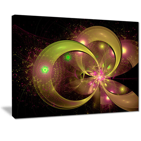 symmetrical green fractal flower digital art floral canvas print PT7297