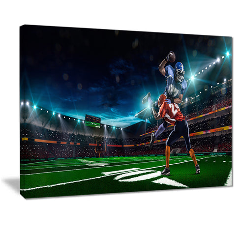 american football player sports digital art canvas print PT7298