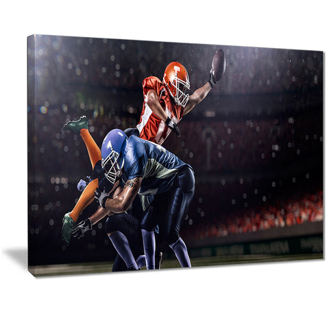 footballers in action sports digital art canvas print PT7303