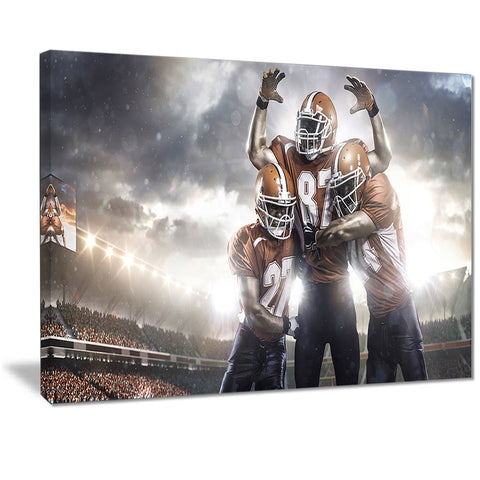 american football players on stadium sports canvas print PT7307