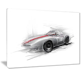 silver formula one car digital art car canvas print PT7320