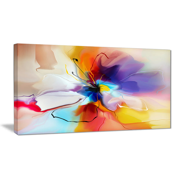 creative flower in multiple colors abstract floral canvas print PT7332