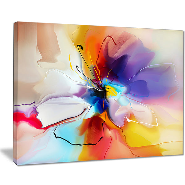 Items Similar To Teal Purple Abstract Flowers Wall Decor: Creative Flower In Multiple Colors Abstract Floral Canvas