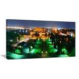 lighted montreal city at night cityscape photo canvas print PT7338