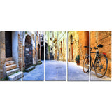 pictorial street of old italy cityscape canvas art print PT7354