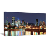 bright montreal at dusk cityscape photography canvas print PT7361