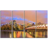 calgary at night cityscape photography canvas print PT7362