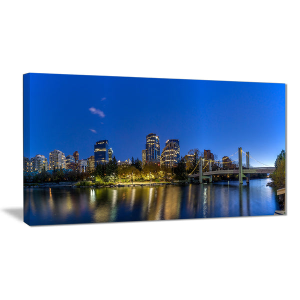 calgary skyline cityscape photography canvas art print PT7363