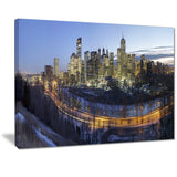 downtown calgary cityscape photo canvas print PT7364