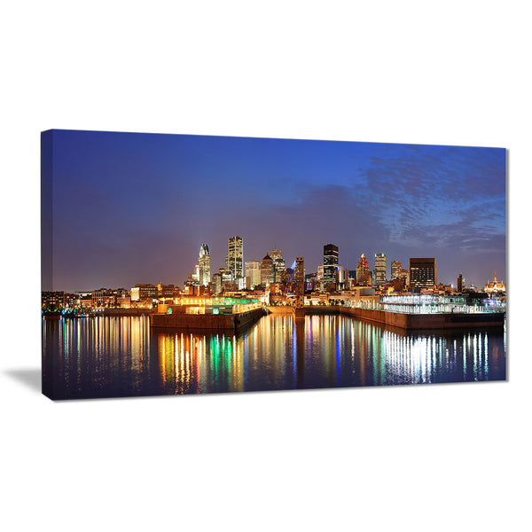 montreal over river panorama cityscape photo canvas print PT7365