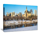 saskatoon skyline landscape photo canvas art print PT7372