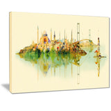 istanbul panoramic view cityscape watercolor canvas print PT7384