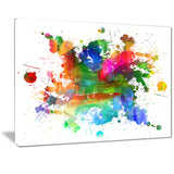 splashes of colors abstract oil painting canvas print PT7400