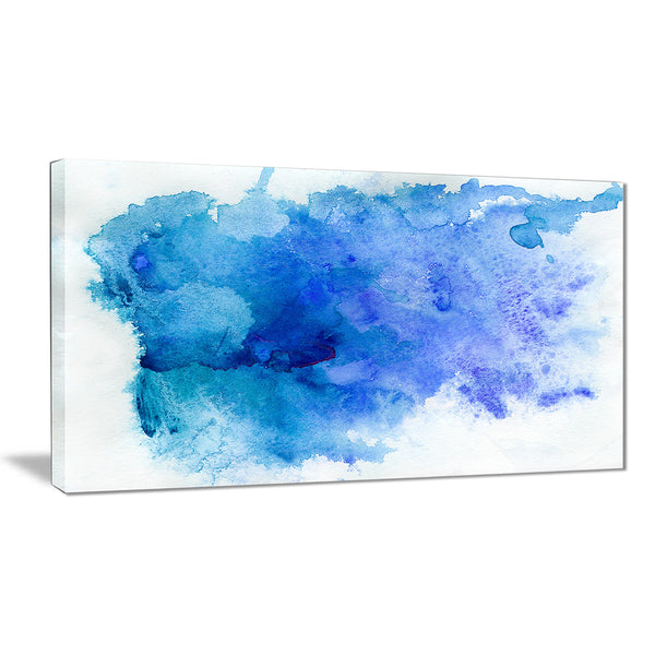 blue watercolor abstract art painting canvas print PT7401