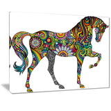 cheerful horse animal digital art canvas print PT7404