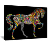 horse and rainbow animal digital art canvas print PT7410