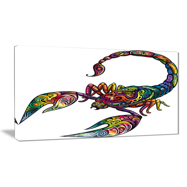 cheerful scorpion animal digital art canvas print PT7415