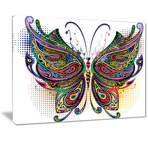 variegated butterfly digital art canvas print PT7420