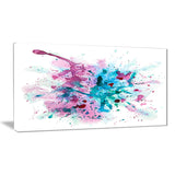 blue and purple paint stain abstract watercolor canvas print PT7441