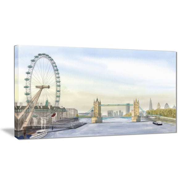 london bridge cityscape photography canvas art print PT7445