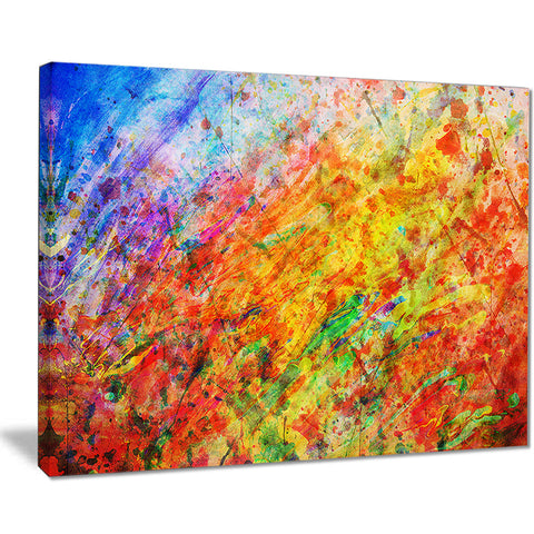 orange and yellow stain watercolor abstract canvas print PT7450