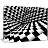 oPTical black and white pattern abstract canvas art print PT7451