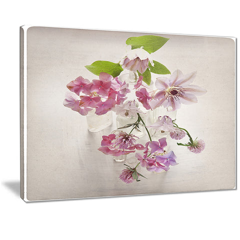 vintage pink flowers floral art painting canvas print PT7458