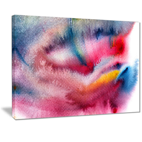 blue and red abstract stain abstract canvas art print PT7465