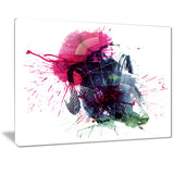multicolor abstract stain modern abstract canvas print PT7478