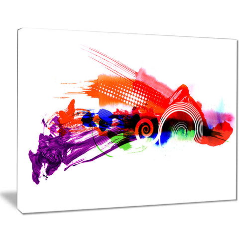 abstract splashes of colors abstract painting canvas print PT7482