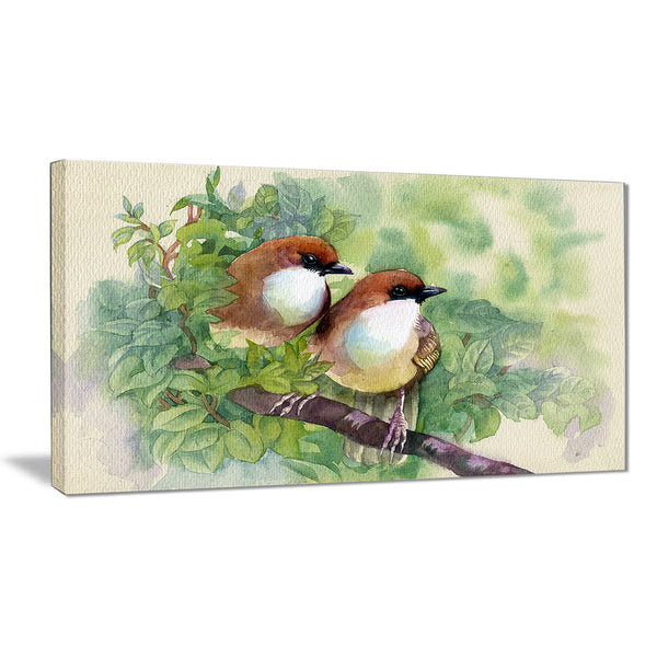 birds of spring modern animal painting canvas print PT7494