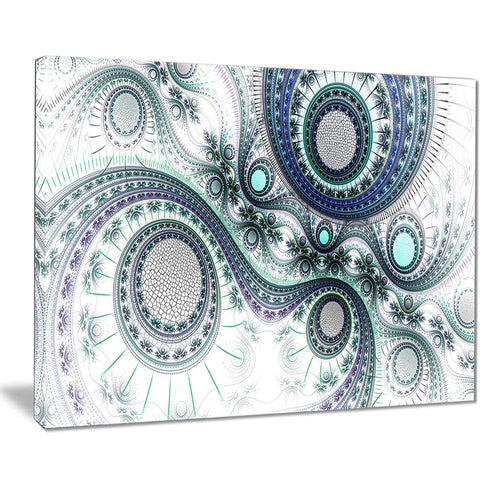 colorful fractal clockwork modern digital art canvas print PT7499