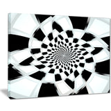 abstract spiral fractal design abstract canvas art print PT7513