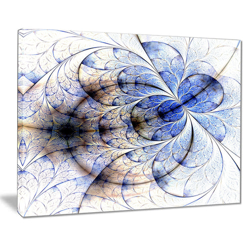 symmetrical gold blue fractal flower floral art canvas print PT7531